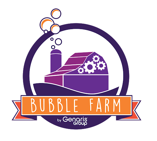 Logo Bubble Farm Open Innovation by Genaris Group avec GREAT