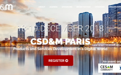Nos equipes animent le Track Mobilité a la 9eme edition CSD&M PARIS / Products and Services Development in a Digital World
